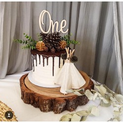 """""""One"""" cake topper"""