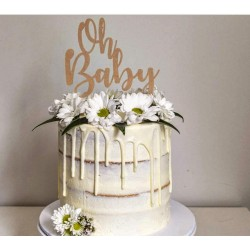 """Cake topper - """"Oh baby"""""""
