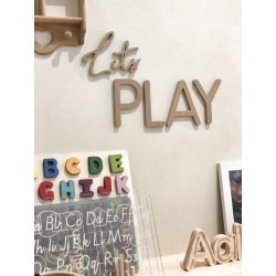 """LETS PLAY"" wall script"