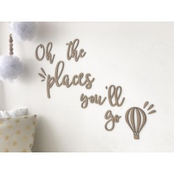 """""""oh the places"""" WALL SCRIPT..."""