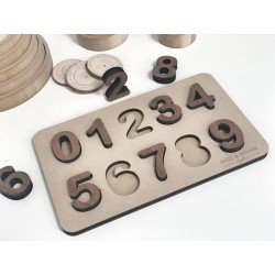 """""""NUMBER"""" PUZZLE - WOODEN STYLE"""