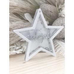 """STAR"" GLITTER BAUBLE"