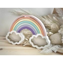 Rainbow egg drop / money box