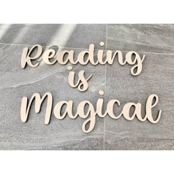 """""""reading is magical"""" wall..."""
