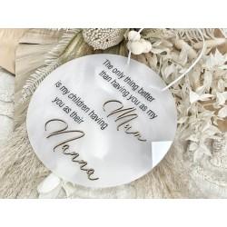 """MUM / NAN"" plaque"