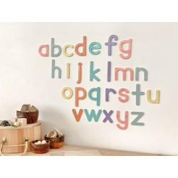 """""""alphabet"""" pastel letter set"""