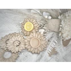 sunflower play dough holder