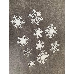 """snow flakes"" acrylic"