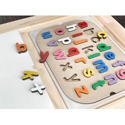 """lower case"" alphabet insert"